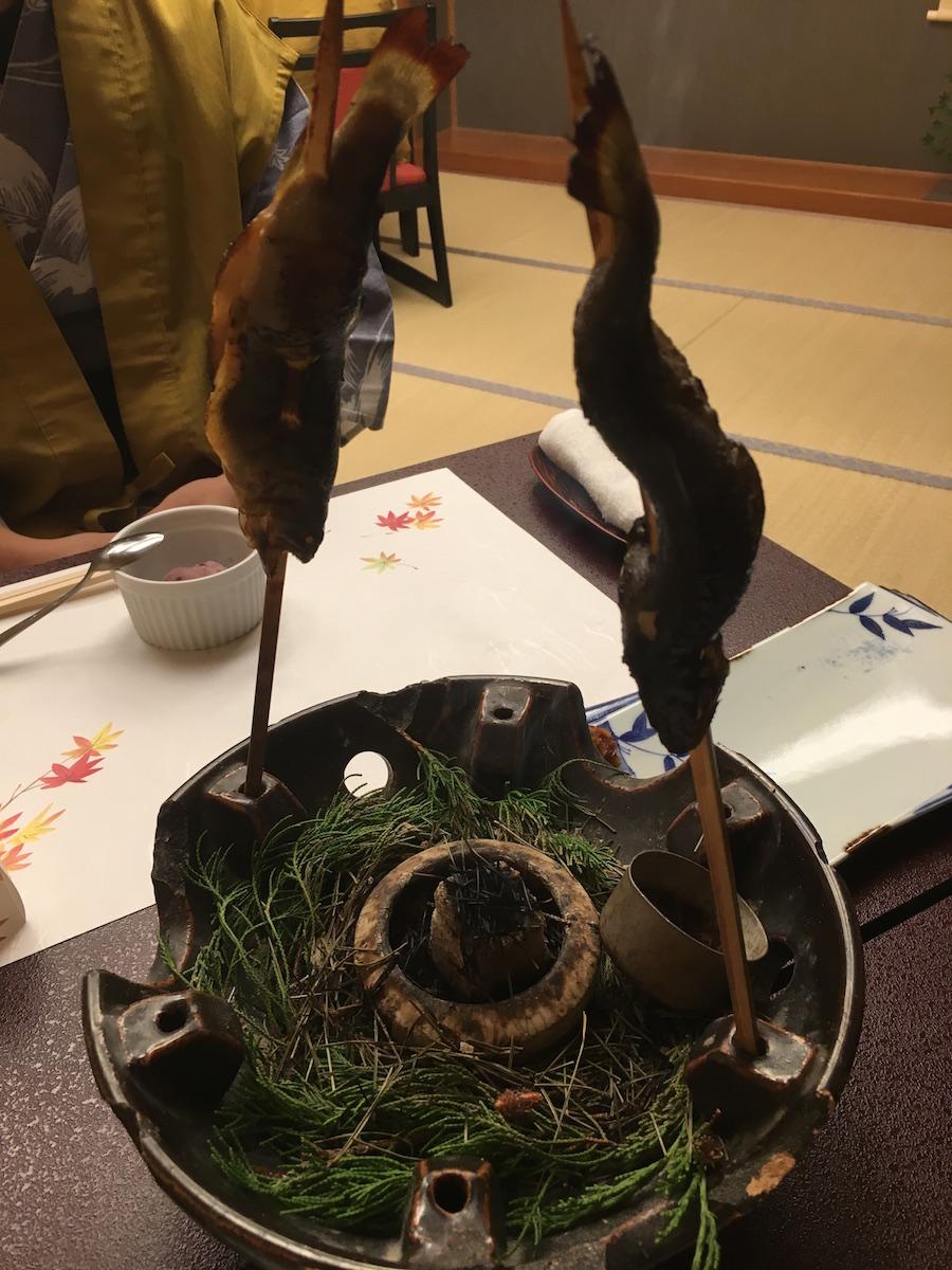慶雲館晚餐的烤魚
