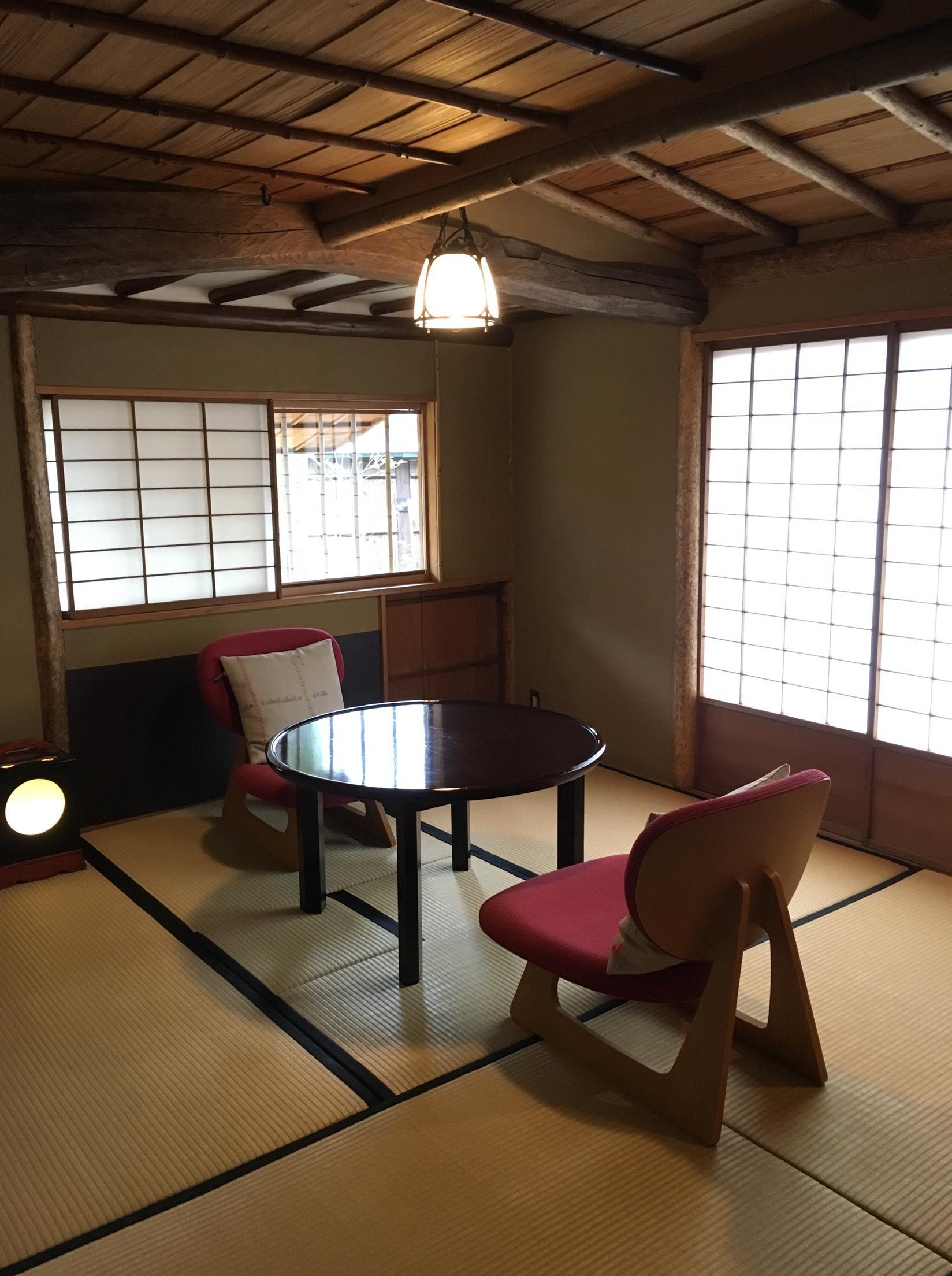 山莊無量塔「樂(Raku)」房型的專屬用餐空間