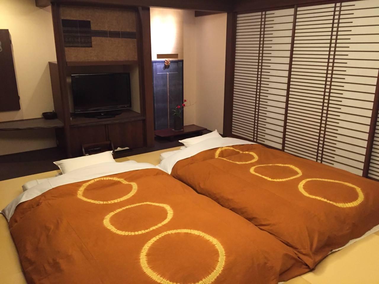 阿寒鶴雅別莊鄙之座房間的床