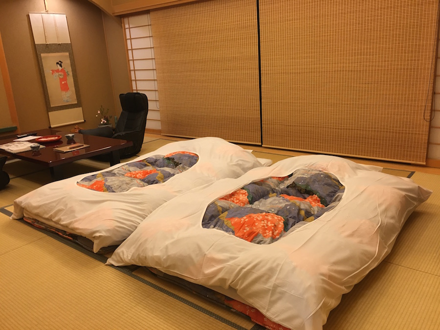 慶雲館房間內的布團